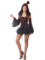 Costumes Vampire Halloween Noir Mosaïque Térylène Robe / Chapeau / Plus d'accessoires