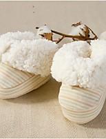 Unisex Boots Winter Crib Shoes Cotton Fleece Casual Flat Heel Brown Green Walking