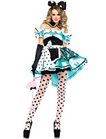 Costumes Movie & TV Theme Costumes Halloween Blue Patchwork Terylene Dress / More Accessories