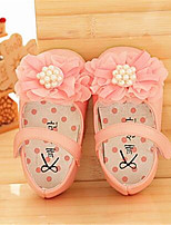 Girl's Flats Summer Ballerina / Round Toe Leatherette Casual Flat Heel Flower Pink / White Others