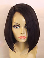 130 Density Hot Short Bob Straight Wigs With Baby Hair Glueless Virgin Brazilian Glueless Lace Front Wigs