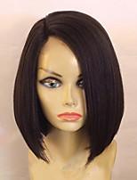 130 плотность горячей короткий боб прямые парики с ребенком волос бесклеевой виргинская бразильская бесклеевой париков фронта шнурка