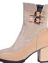 Mujer-Tacón Robusto-Plataforma / Botas a la Moda / Botas de Moto / Confort / Innovador / Cowboy / Botas de Nieve / Pump Básico /