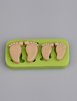 2016 New desigh silicone foot print shape mini cake decorating molds fondant cake mold