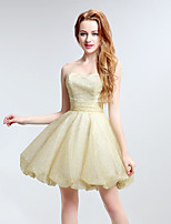 Cocktail Party Dress A-line Sweetheart Short / Mini Tulle with Ruffles
