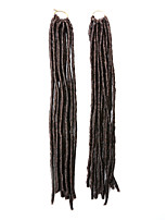 Gehäkelt Dread Locks Haarverlängerungen 18Inch Kanekalon 24 Strands(Recommended Buy 5 Packs Full Head) Strand 90g Gramm Haar Borten