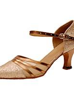 Customizable Women's Dance Shoes Sparkling Glitter Latin / Modern Sandals / Heels Customized Heel Professional / Indoor
