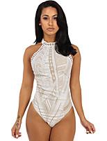 Womens Black Boho Lace Bodysuit with Halter Neck