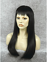 IMSTYLE 24Natural looking Top Quality Black Synthetic Lace Front Wig