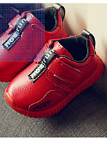 Winter Flats Synthetic Casual Flat Heel Magic Tape Black / Red Sneaker
