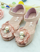 Girl's Sandals Summer Sandals PU Casual Flat Heel Flower Pink / Beige Others