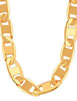 Ожерелье Ожерелья-цепочки Бижутерия Для вечеринок / Повседневные / Спорт Мода Медь / Позолота Золотой 1шт Подарок