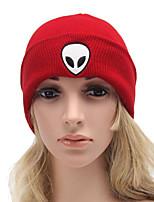 Для женщин Для женщин Винтаж / Для офиса / На каждый день Вязаная шапочка,Трикотаж,осень / Зима