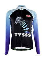 Sports Cycling Jersey Men's Long Sleeve Bike Breathable / Thermal / Warm / Front Zipper / Back Pocket / Ultra Light Fabric TopsPolyester