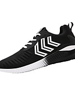 Men's Flats Spring / Fall Comfort / Round Toe PU Athletic / Casual Flat Heel Lace-up Black / Blue / Gray Others