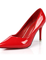 Women's Heels Spring / Summer / Fall Heels / Round Toe PU Dress / Casual Flat Heel Others Black / Purple / Red Walking