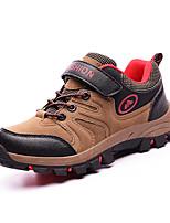 Коричневый / Зеленый-Для мальчиков-Для прогулок-Полиуретан-На плоской подошве-Удобная обувь / С круглым носком-Спортивная обувь