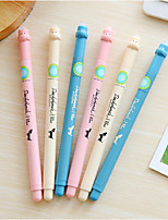 12 PCS Dog Pattern Blue Ink Gel Pen