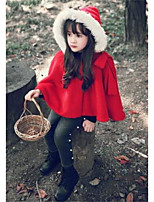 Girl's Casual/Daily Solid Jacket & CoatCotton Winter Red