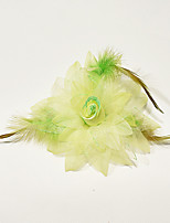 Performance Modern Dance Headpieces Women's / Children's/ Feathers Feathers /Fur / Flower(s) 1 PieceFuchsia /