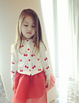 Girl's Casual/Daily Floral Suit & BlazerCotton Spring / Fall Red / White