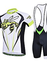 Men's Summer Professional Hornets Cycling Shirt Bicycle Breathable Quick Dry Jersey + 3D Cushion Pad Bib Shorts Suit