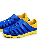 גברים-סנדלים-PU PVCשחור כחול חום אפור-שטח-עקב שטוח