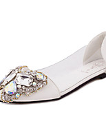Women's Flats Fall Comfort PU Casual Flat Heel Sparkling Glitter Black / White Others