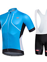 Sports® Cycling Jersey with Bib Shorts Women's / Men's / Unisex Short SleeveBreathable / Quick Dry / Moisture Permeability / 3D Pad /