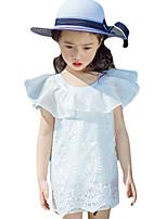 Vestido Chica de-Noche-Estampado-Otros-Verano-Blanco