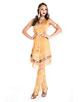 Costumes de Cosplay / Costume de Soirée Reine / Costumes égyptiens Fête / Célébration Déguisement Halloween Jaune Couleur PleineRobe /