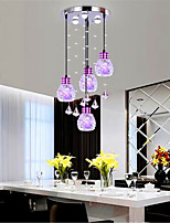 Modern Led Pendant Lamp Four Head Crystal Dining Pendant (patch LED)