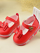 Girl's Sandals Fall PU Casual Flat Heel Others Red Others