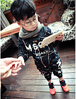 Boy's Going out Print Clothing SetCotton Spring / Fall Black