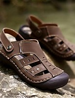 Men's Sandals Summer Sandals Leather Casual Flat Heel Others Brown / Khaki Others