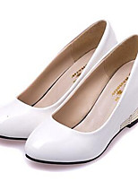 Damen-High Heels-Kleid-Kunstleder-Keilabsatz-Wedges / Absätze-Schwarz / Rot / Weiß / Mandelfarben