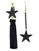 Earring Star Drop Earrings Jewelry Women Fashion / Bohemia Style / Tassels Party / Daily / Casual Alloy 1 pair Black KAYSHINE