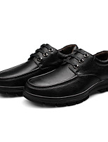 Unisex Oxfords Spring / Fall Comfort Cowhide Casual Flat Heel  Black / Brown Sneaker