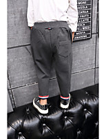 Boy's Casual/Daily Solid PantsCotton Spring / Fall Black / Gray