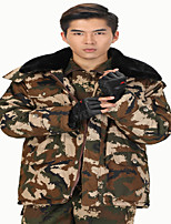 Hiking Softshell Jacket Men's Waterproof / Thermal / Warm / Windproof / Wearable Winter Cotton Camouflage