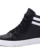 Men's Sneakers Spring / Summer / Fall / Winter Comfort Synthetic Athletic / Casual Flat Heel Black / White Sneaker