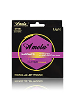 Amola  ET100 010-046 NANOWEB NICKEL ALLOY WOUND Ulra Thin Coating With ANTI-RUST Plain Steels Electric Guitar Strings