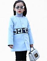 Completo e giacca / Giubbino e cappotto Girl Casual Monocolore Poliestere Inverno / Primavera / Autunno Blu / Beige