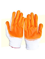 Nylon Pvc Protective Gloves      10 Pairs Packaged for Sale