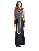 Cosplay Costumes Fairytale Goddess Egyptian Costumes Movie Cosplay Black Solid Dress Halloween Christmas New Year Female Polyester