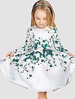 Girl's Casual/Daily Floral DressCotton / Polyester Winter / Fall White