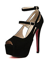 Women's Sandals Summer Peep Toe Fleece Casual Stiletto Heel Others Black / Pink Others