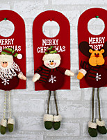 Christmas Tree Decor Ornaments Xmas Home Door Decoration Santa Claus Snowman Reindeer
