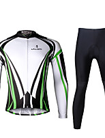 PALADIN® Cycling Jersey with Tights Men's Long SleeveBreathable / Quick Dry / Ultraviolet Resistant / Compression / Lightweight Materials