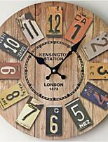 Modern/Contemporary / Casual Family Wall ClockRound Metal 35*35*5 Indoor/Outdoor / Indoor / Outdoor Clock